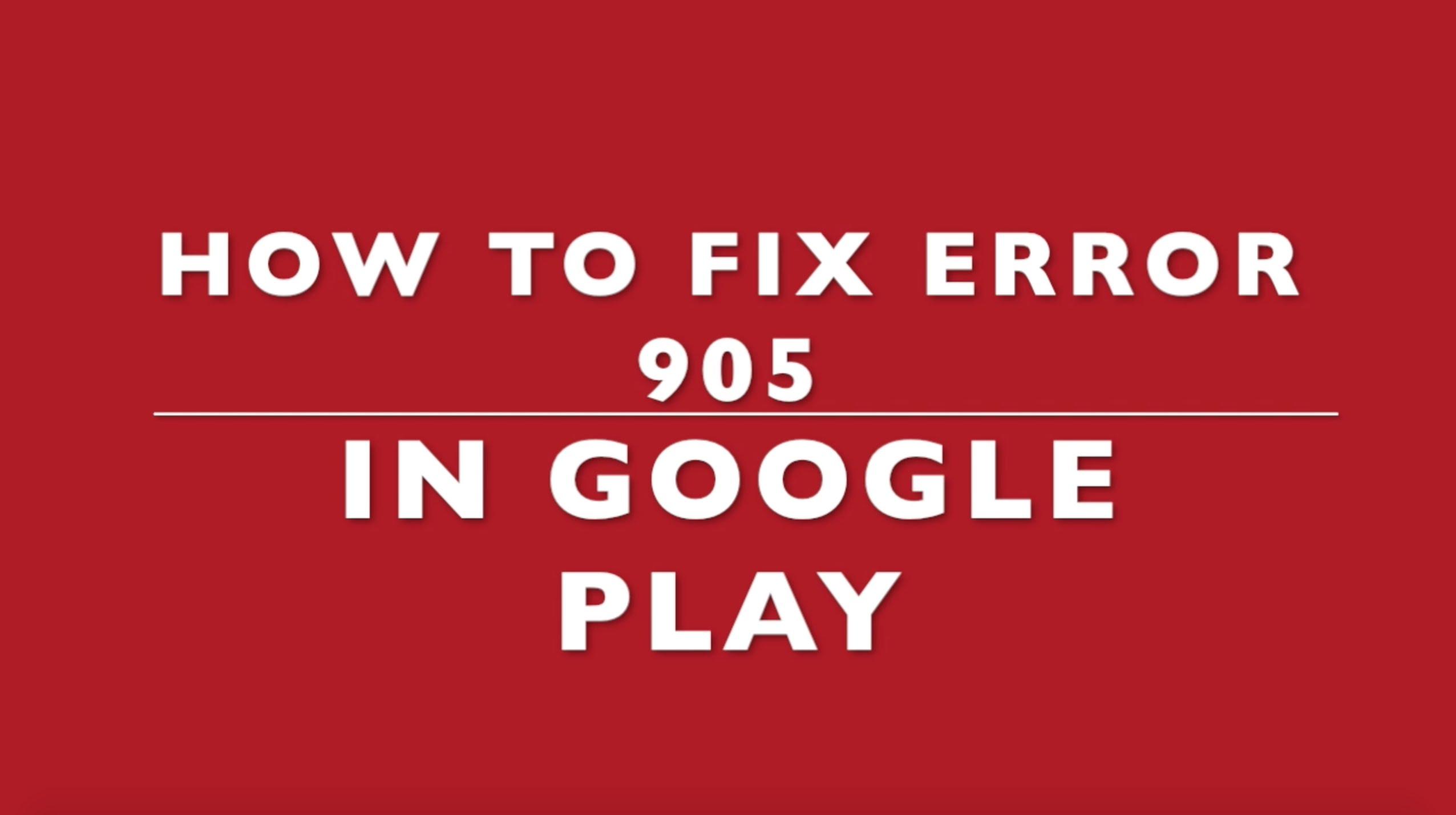 error-905