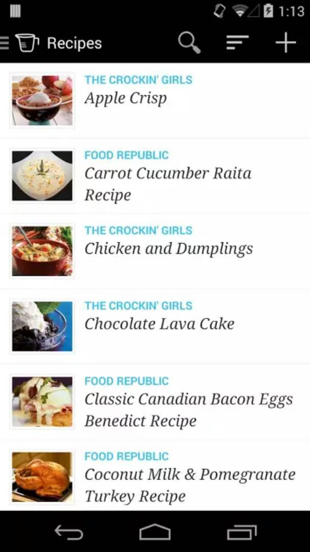 COOKING PLANNER app
