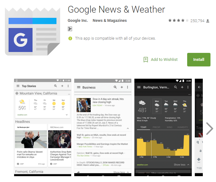D:\Projects\Articles\Disha Rajani\Some Handy Apps to Keep Safe From Erratic Weather While You Move Around The World\Google News and Weather.PNG