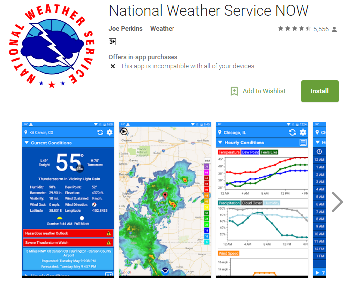 D:\Projects\Articles\Disha Rajani\Some Handy Apps to Keep Safe From Erratic Weather While You Move Around The World\National Weather Service.PNG