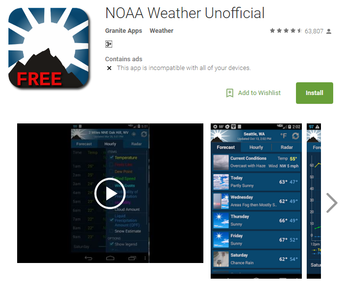 D:\Projects\Articles\Disha Rajani\Some Handy Apps to Keep Safe From Erratic Weather While You Move Around The World\NOAA Weather Unofficial.PNG