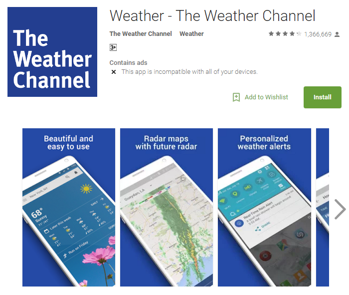 D:\Projects\Articles\Disha Rajani\Some Handy Apps to Keep Safe From Erratic Weather While You Move Around The World\The Weather Channel.PNG