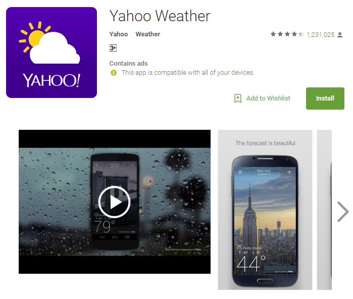 D:\Projects\Articles\Disha Rajani\Some Handy Apps to Keep Safe From Erratic Weather While You Move Around The World\Yahoo Weather.PNG