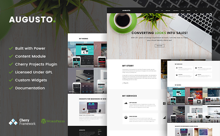 Augusto - Smart WordPress Theme for Freelance Designer & Web Design