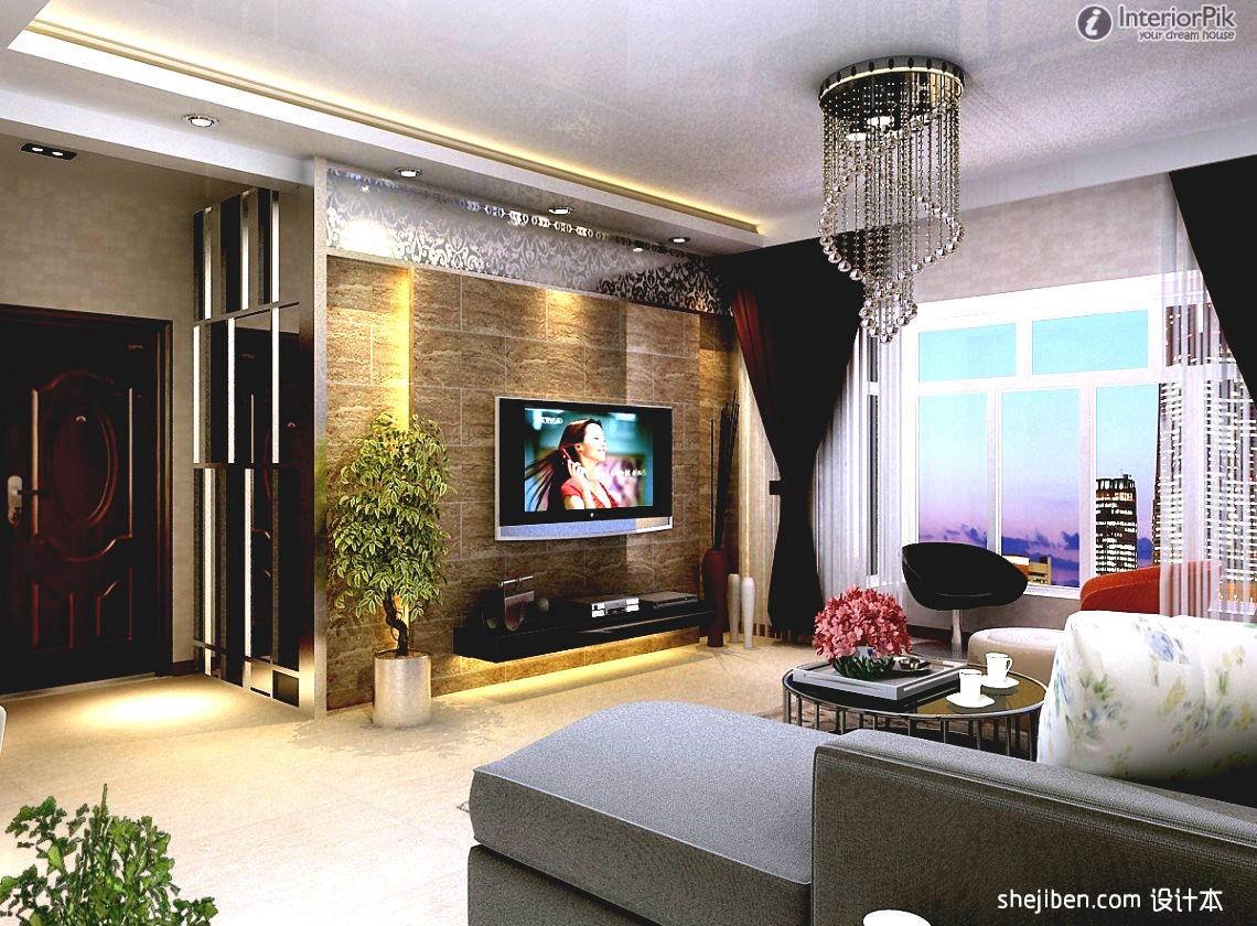 Modern day living room tv ideas for 2018 techavy for Modern house living room design