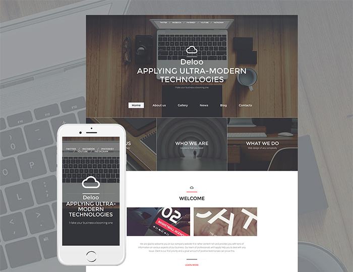 Deloo - ultra modern Web Design Responsive Moto CMS 3 Template