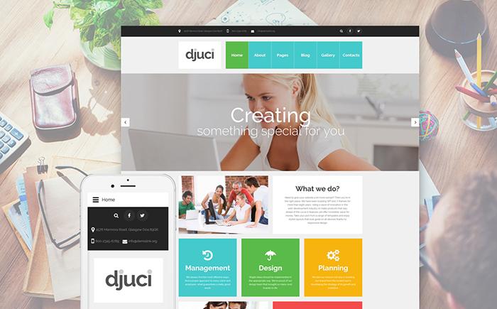 Djuci - Flexible Joomla Template for Web Design Agencies