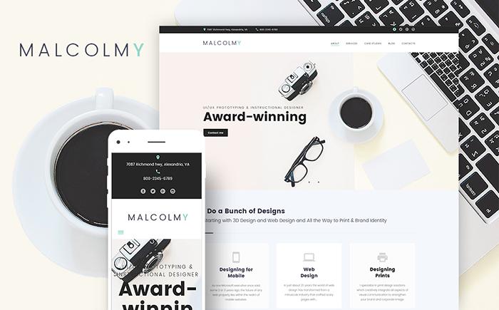 MalcolmY - Creative Personal Web Designer Portfolio WordPress Theme