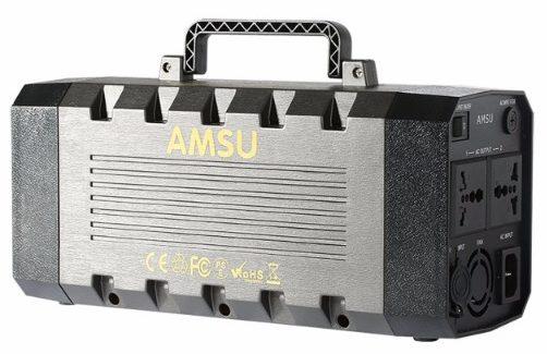 AMSU 500W (Peak 1000W) Portable Solar Generator, 6.7 lbs