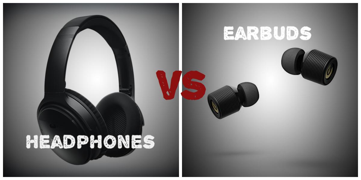 Image result for Earbuds vs. Headphones