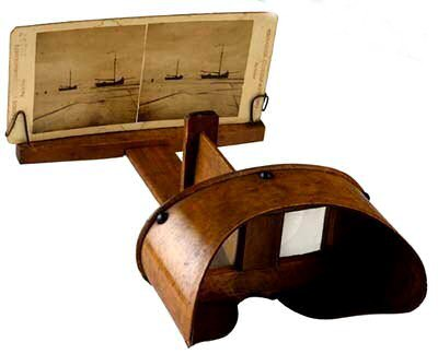 The Stereoscope was the first viewing device that simulated realistic scenes.